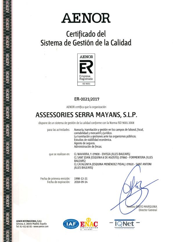 Certificado-ISO-9001-serra-Mayans-Assessors
