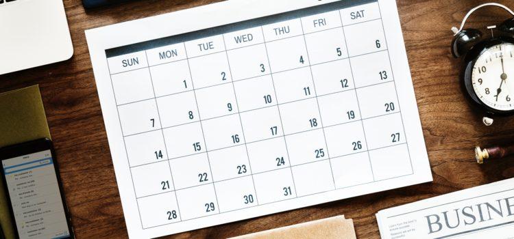 Calendari Març 2019