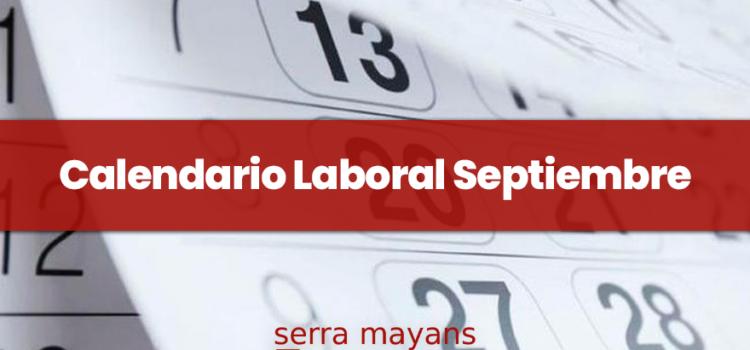 Calendario Laboral Septiembre 2021